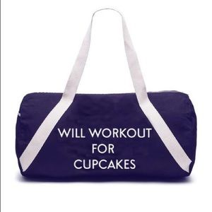 Handbags - Will Workout for Cupcakes🧁 Gym Travel Duffle Bag